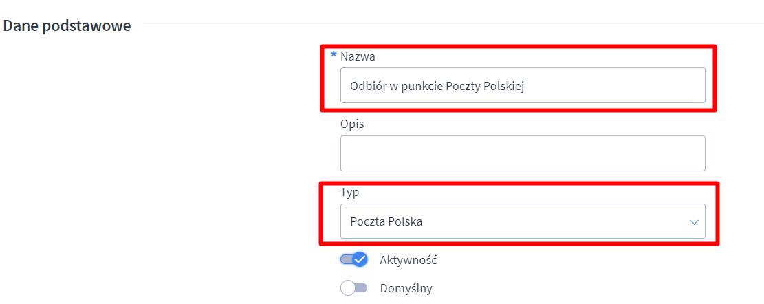 Poczta Polska Odbior W Punkcie Centrum Pomocy Shoper