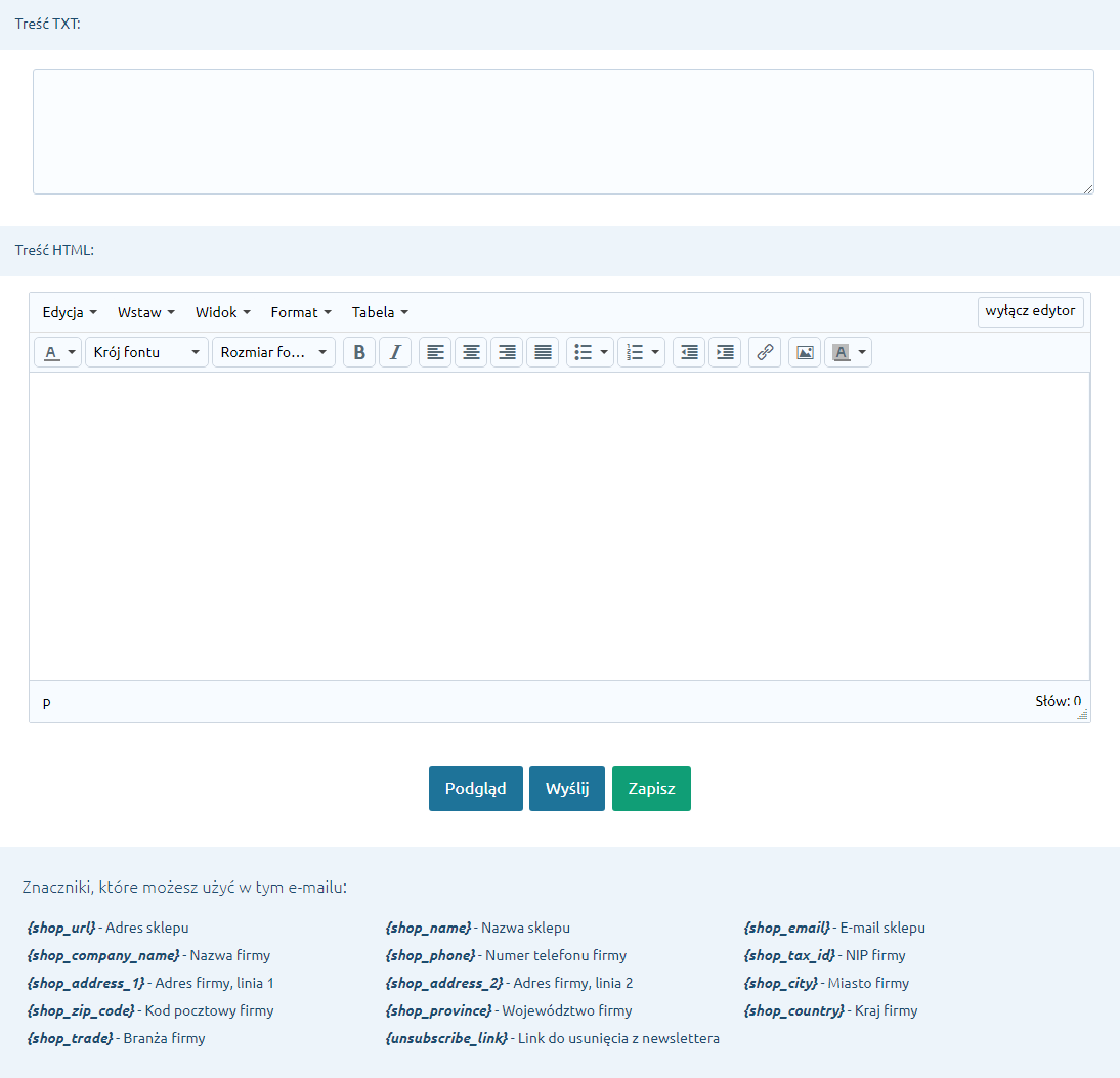 Tworzenie treści newslettera
