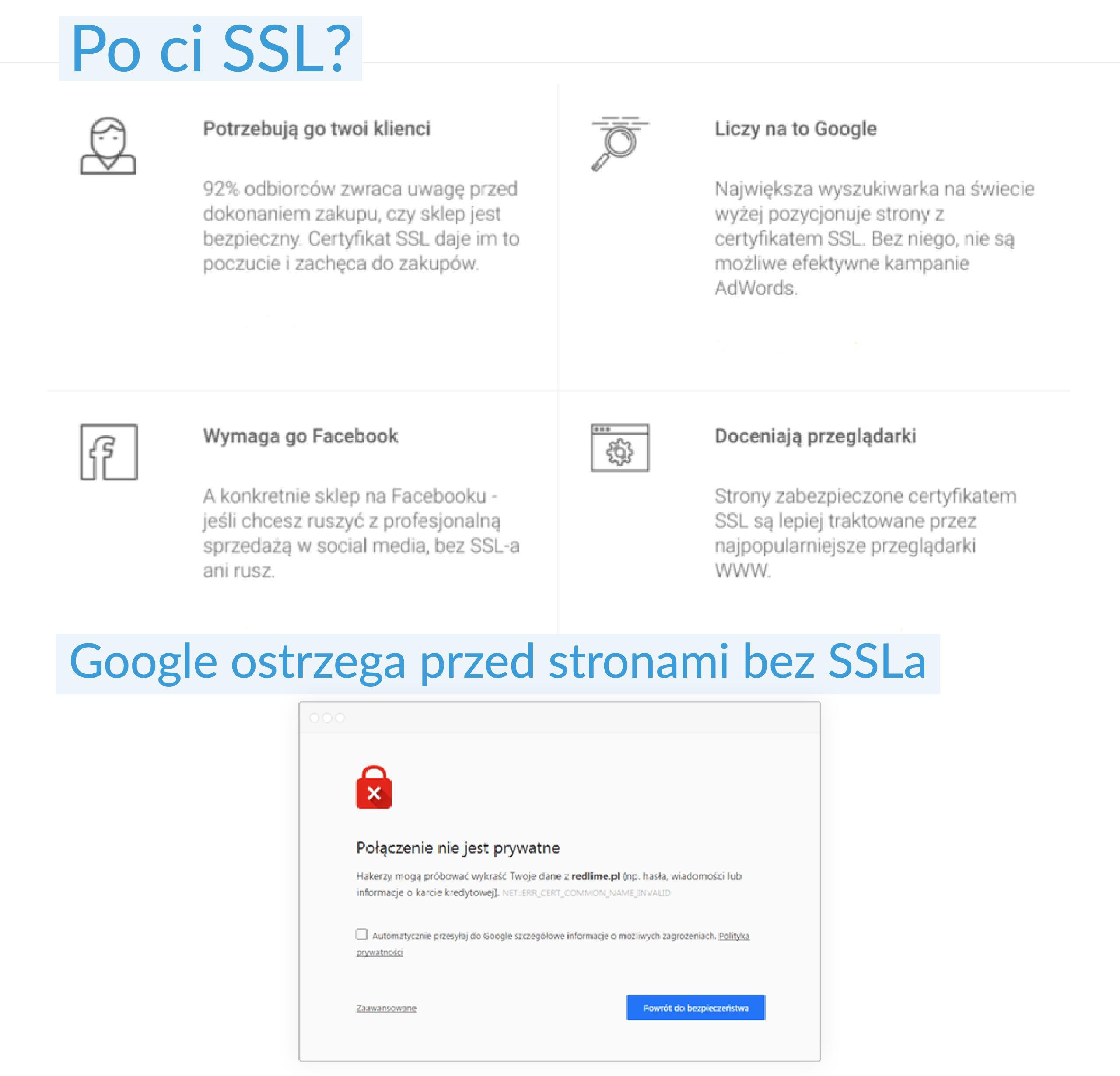 Google SSL bezpieczenstwo
