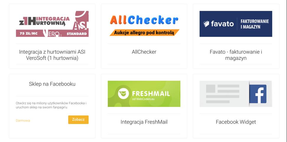 AppStore Shoper Aplikacje dla sklepu