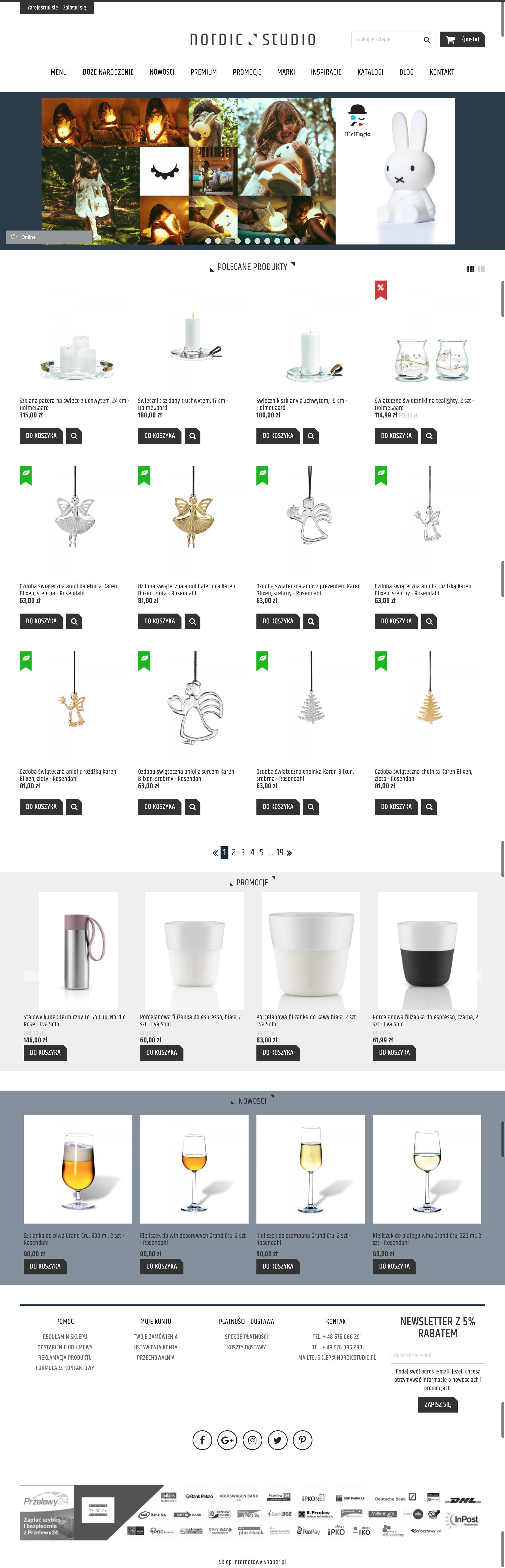 Strona glowna sklepu internetowego