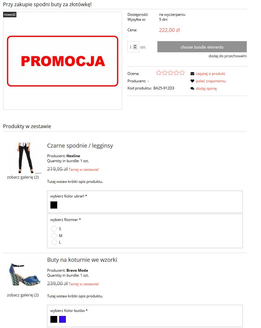 Zestawy produktow sklep internetowy sprzedaz