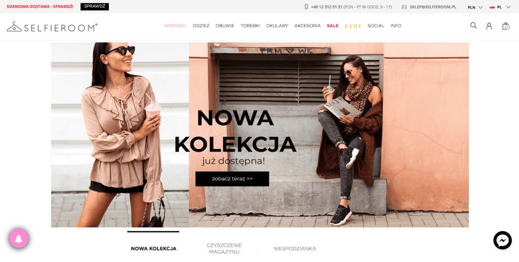 Selfieroom modny sklep internetowy