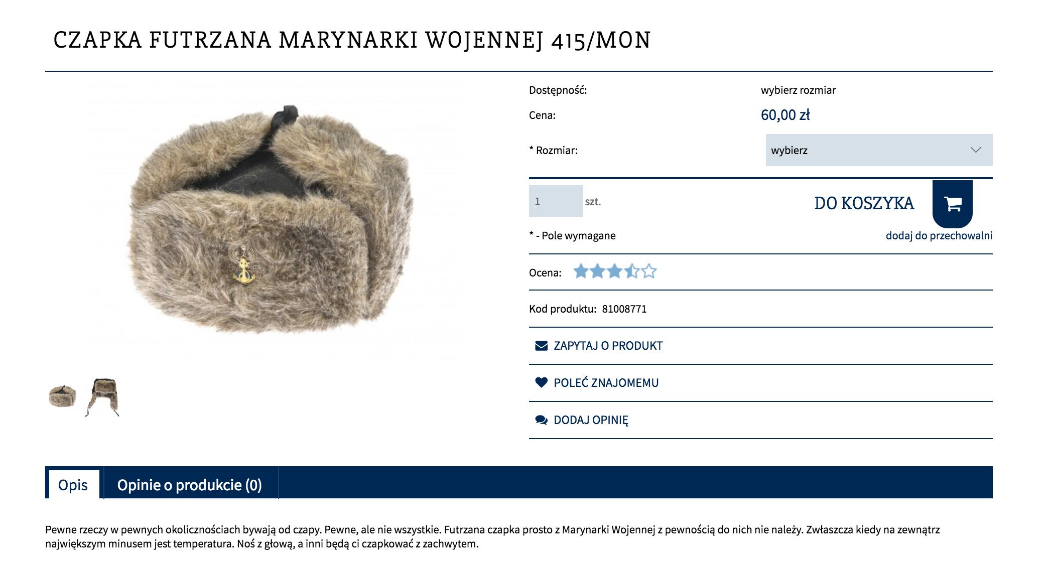 Sklep internetowy opisy produktów
