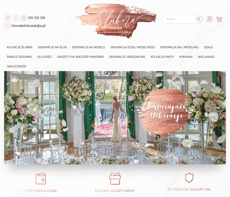 Sklep internetowy ozdoby ślubne